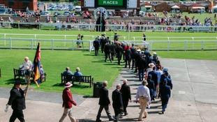 The parade at Ripon Racecourse