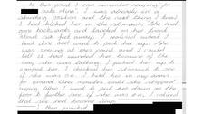 Dean Harris' confession letter.