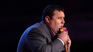 Peter Kay performing