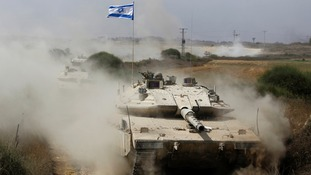 Israeli tanks returned from the strip this morning.
