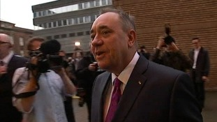 Alex Salmond on arrival for tonight's debate.