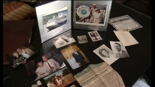 Pictures of the pair were placed in the family home on Don's return.