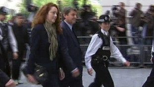 The former chief executive of News International arriving at Westminster Magistrates Court