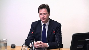 Nick Clegg at the Leveson Inquiry.