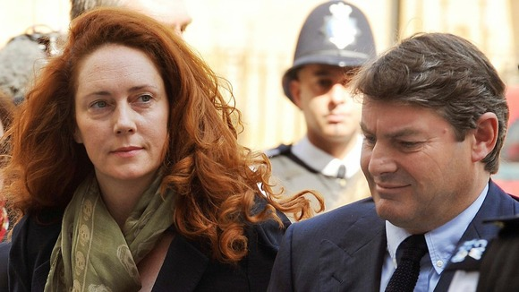 Rebekah Brooks and her husband Charlie arrive at Westminster Magistrates Court