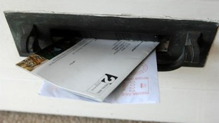 Generic envelopes in a door letterbox