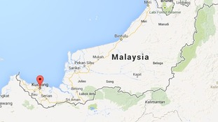 The attack happened in Kuching town in east Malaysia.