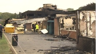 Five boys have denied arson after a huge fire at a Lancashire school