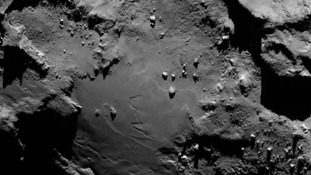 The first close up picture from comet 67P/C-G.