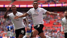 Britt Assombalonga scored 33 goals in 58 games for Peterborough last season