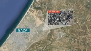 This aerial shot shows Gaza before the conflict.