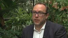 "Wikipedia founder Jimmy Wales says the removal of history on the internet  is ""immoral."""