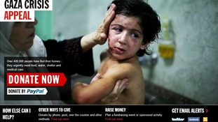 The Disasters Emergency Committee's Gaza crisis appeal website has been laucnhed.