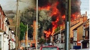 Drivers are being warned to avoid parts of Leicester due to a huge factory fire.
