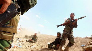 Kurdish Peshmerga troops engage ISIS forces in northern Iraq