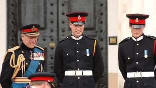 Prince Harry and The Duke of Edinburgh attended William's graduation at the Royal Military Academy.