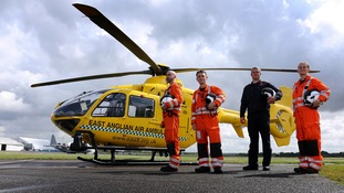East Anglian Air Ambulance Crew members.