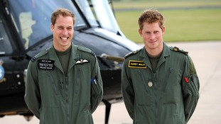 Both Princes William and Harry were based at the home of the Defence Helicopter Flying School as they underwent military helicopter training courses.