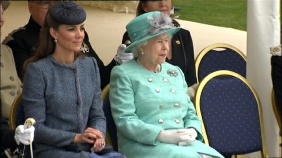 Kate and William are accompanying the Queen today as the Duke of Edinburgh is recovering from a bladder infection