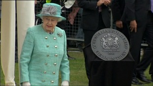The Queen unveiled a plaque shortly after William paid tribute to her in a speech
