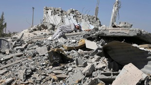 A month of bitter fighting has devastated towns like Khuzaa in southern Gaza.