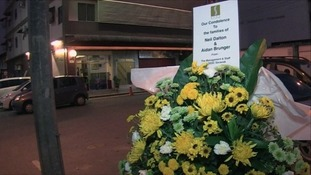 The floral tributes were made in Kuching, in the western province of Sarawak, following the deaths.