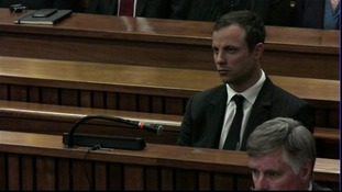 Oscar Pistorius in court in Pretoria, South Africa.
