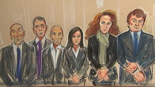Rebekah Brooks appeared alongside her husband Charlie and four others at Westminster Magistrates Court
