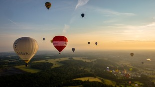 Balloons at one of Europe's largest ballooning events.