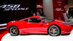 A stock photo of the Ferrari 458 Speciale