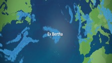 Ex Hurricane Bertha is making its way across the Atlantic.