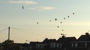 Invasion of the balloons 7am Whitchurch