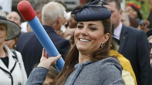 Duchess of Cambridge joins in during events in Nottingham to mark the Queen's Diamond Jubilee