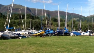 Boats at Derwent Water Marina