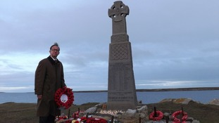 David Melding at Welsh Guards memorial