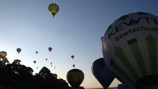 More than 100 balloons took part in today's mass ascent
