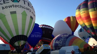 Around 110 balloons take off at Balloon Fiesta