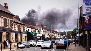 Smoke above Wellfield Road
