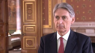 Philip Hammond said supplies would be targeted at people trapped on Sinjar mountain.