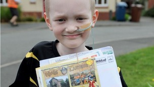 Delighted Josh has received almost 700 postcards in just over a week.