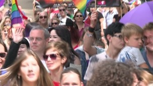 Hundreds took part in the event in Plymouth