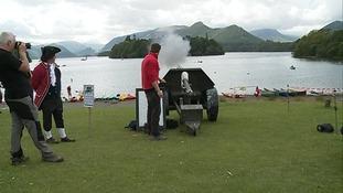 Man fires canon