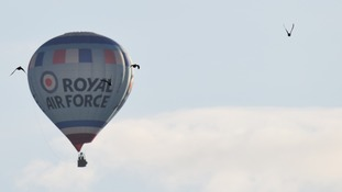 Royal Air Force balloon above Bedminster Down
