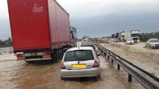 Heavy rain overnight left many in Yorkshire and Cambridgeshire today.