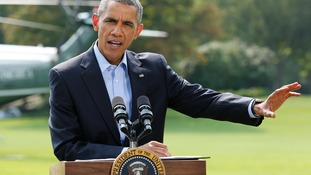 "Barack Obama said fending off Islamic State militants will ""take some time""."