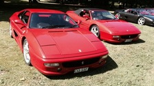 Some of the rarest and most valuable Ferrari's were on display.