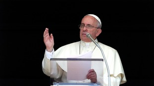 Pope Francis said the violence in Iraq
