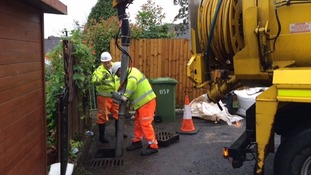 Drains were blocked in Bickington