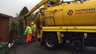 North Devon residents narrowly avoid getting flooded