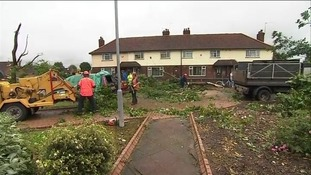 Clear up begins in Hopewell Road